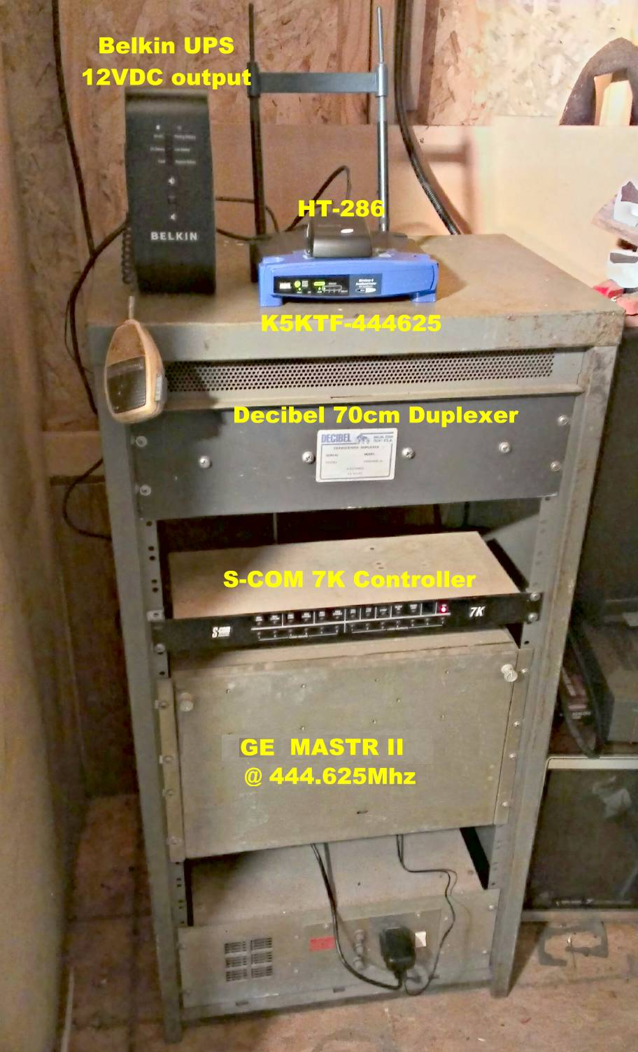 K5KTF 444.625Mhz repeater with VoIP Phone Patch